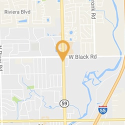A map to Dr. Mike Lakota's Shorewood, IL dental practice