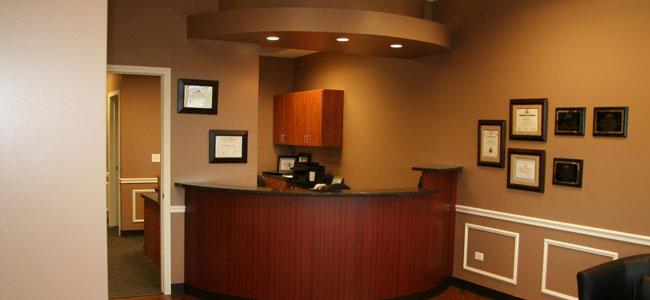 The reception desk of our Shorewood IL dentist office.